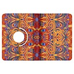 Oriental Watercolor Ornaments Kaleidoscope Mosaic Kindle Fire HDX Flip 360 Case Front