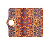 Oriental Watercolor Ornaments Kaleidoscope Mosaic Kindle Fire HDX 8.9  Flip 360 Case Front