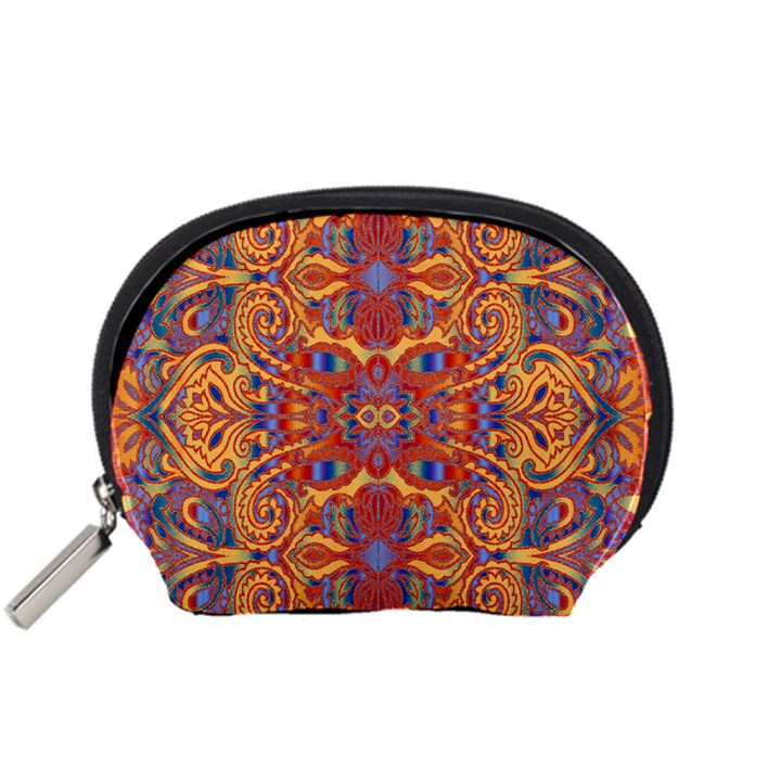 Oriental Watercolor Ornaments Kaleidoscope Mosaic Accessory Pouches (Small)