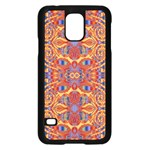 Oriental Watercolor Ornaments Kaleidoscope Mosaic Samsung Galaxy S5 Case (Black) Front