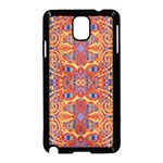 Oriental Watercolor Ornaments Kaleidoscope Mosaic Samsung Galaxy Note 3 Neo Hardshell Case (Black) Front