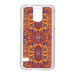 Oriental Watercolor Ornaments Kaleidoscope Mosaic Samsung Galaxy S5 Case (White) Front