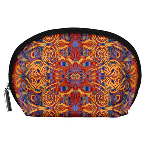Oriental Watercolor Ornaments Kaleidoscope Mosaic Accessory Pouches (Large)