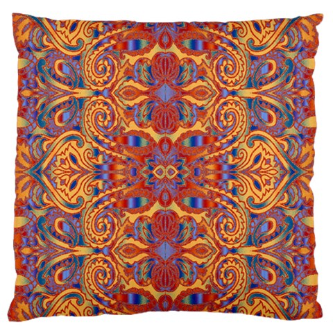 Oriental Watercolor Ornaments Kaleidoscope Mosaic Standard Flano Cushion Case (Two Sides)