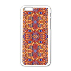 Oriental Watercolor Ornaments Kaleidoscope Mosaic Apple iPhone 6/6S White Enamel Case