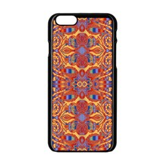 Oriental Watercolor Ornaments Kaleidoscope Mosaic Apple Iphone 6/6s Black Enamel Case