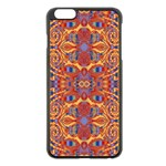 Oriental Watercolor Ornaments Kaleidoscope Mosaic Apple iPhone 6 Plus/6S Plus Black Enamel Case Front