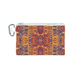 Oriental Watercolor Ornaments Kaleidoscope Mosaic Canvas Cosmetic Bag (S) Front