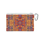 Oriental Watercolor Ornaments Kaleidoscope Mosaic Canvas Cosmetic Bag (S) Back