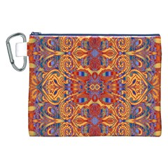 Oriental Watercolor Ornaments Kaleidoscope Mosaic Canvas Cosmetic Bag (XXL)