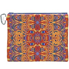 Oriental Watercolor Ornaments Kaleidoscope Mosaic Canvas Cosmetic Bag (xxxl)