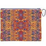 Oriental Watercolor Ornaments Kaleidoscope Mosaic Canvas Cosmetic Bag (XXXL) Back