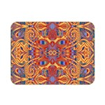 Oriental Watercolor Ornaments Kaleidoscope Mosaic Double Sided Flano Blanket (Mini)  35 x27 Blanket Back