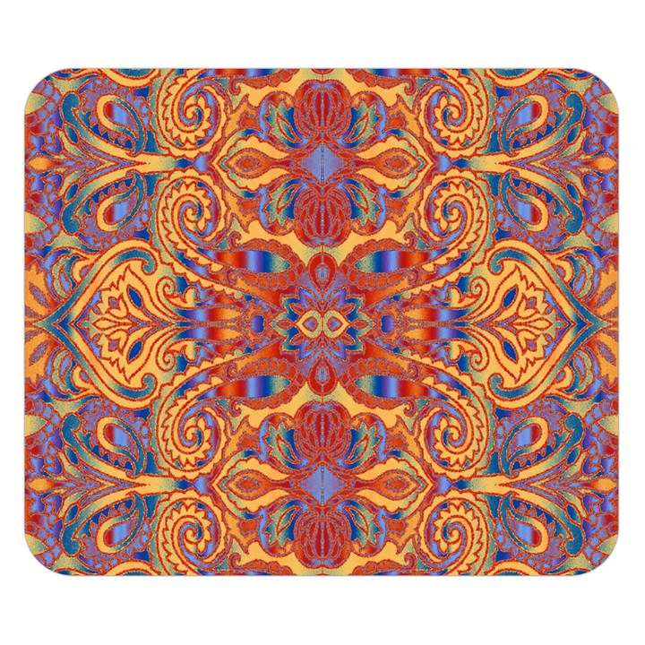 Oriental Watercolor Ornaments Kaleidoscope Mosaic Double Sided Flano Blanket (Small)