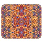 Oriental Watercolor Ornaments Kaleidoscope Mosaic Double Sided Flano Blanket (Small)  50 x40 Blanket Back