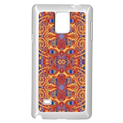 Oriental Watercolor Ornaments Kaleidoscope Mosaic Samsung Galaxy Note 4 Case (white)