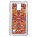 Oriental Watercolor Ornaments Kaleidoscope Mosaic Samsung Galaxy Note 4 Case (White) Front