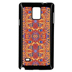 Oriental Watercolor Ornaments Kaleidoscope Mosaic Samsung Galaxy Note 4 Case (black)