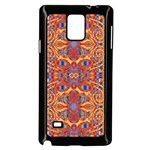 Oriental Watercolor Ornaments Kaleidoscope Mosaic Samsung Galaxy Note 4 Case (Black) Front
