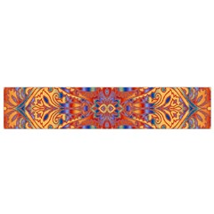 Oriental Watercolor Ornaments Kaleidoscope Mosaic Flano Scarf (Small)