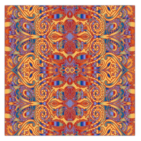 Oriental Watercolor Ornaments Kaleidoscope Mosaic Large Satin Scarf (Square)