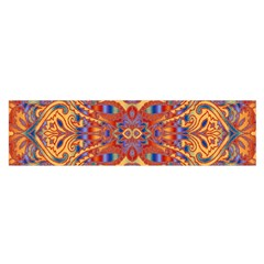 Oriental Watercolor Ornaments Kaleidoscope Mosaic Satin Scarf (Oblong)