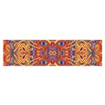 Oriental Watercolor Ornaments Kaleidoscope Mosaic Satin Scarf (Oblong) Front