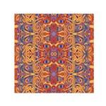 Oriental Watercolor Ornaments Kaleidoscope Mosaic Small Satin Scarf (Square) Front