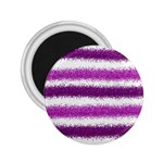 Metallic Pink Glitter Stripes 2.25  Magnets Front
