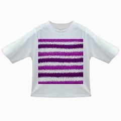 Metallic Pink Glitter Stripes Infant/Toddler T-Shirts