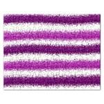 Metallic Pink Glitter Stripes Rectangular Jigsaw Puzzl Front