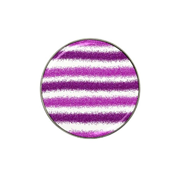 Metallic Pink Glitter Stripes Hat Clip Ball Marker (10 pack)