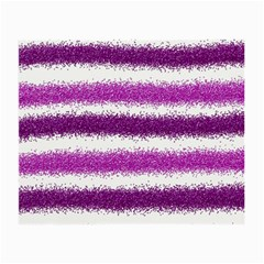 Metallic Pink Glitter Stripes Small Glasses Cloth