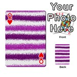 Metallic Pink Glitter Stripes Playing Cards 54 Designs  Front - HeartQ