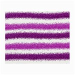 Metallic Pink Glitter Stripes Small Glasses Cloth (2-Side) Front