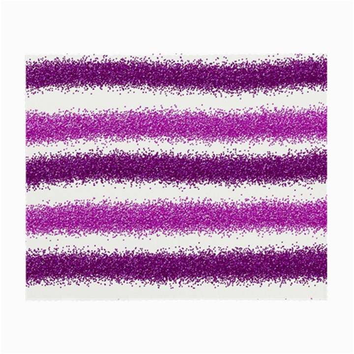 Metallic Pink Glitter Stripes Small Glasses Cloth (2-Side)