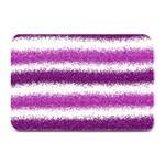 Metallic Pink Glitter Stripes Plate Mats 18 x12 Plate Mat - 1