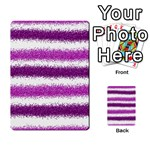 Metallic Pink Glitter Stripes Multi-purpose Cards (Rectangle)  Back 49
