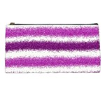 Metallic Pink Glitter Stripes Pencil Cases Front