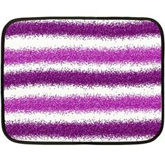 Metallic Pink Glitter Stripes Double Sided Fleece Blanket (Mini)