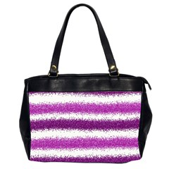 Metallic Pink Glitter Stripes Office Handbags (2 Sides)