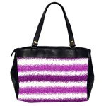 Metallic Pink Glitter Stripes Office Handbags (2 Sides)  Back