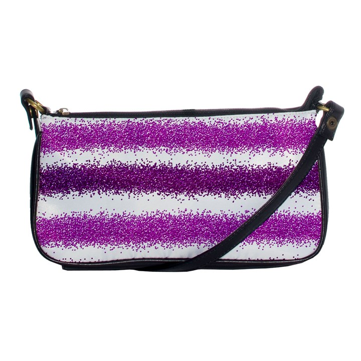 Metallic Pink Glitter Stripes Shoulder Clutch Bags