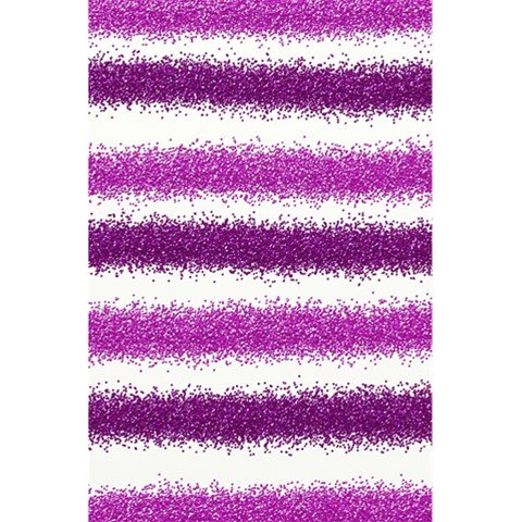Metallic Pink Glitter Stripes 5.5  x 8.5  Notebooks