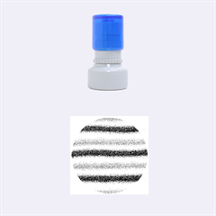 Metallic Pink Glitter Stripes Rubber Round Stamps (Small)