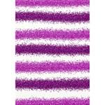 Metallic Pink Glitter Stripes LOVE 3D Greeting Card (7x5) Inside