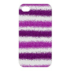 Metallic Pink Glitter Stripes Apple iPhone 4/4S Hardshell Case