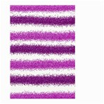 Metallic Pink Glitter Stripes Small Garden Flag (Two Sides) Front