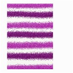 Metallic Pink Glitter Stripes Large Garden Flag (Two Sides) Front