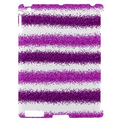 Metallic Pink Glitter Stripes Apple iPad 2 Hardshell Case (Compatible with Smart Cover)